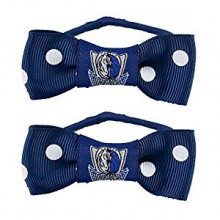 Dallas Mavericks Bow Pigtail Holders