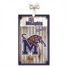 Memphis Tigers Corrugated Metal Ornament