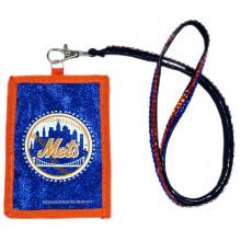New York Mets Beaded Lanyard I.D. Wallet