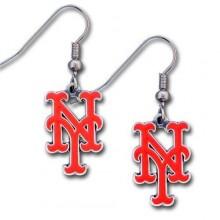 New York Mets Dangle Earrings