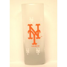 New York Mets Frosted Cordial 2 oz Shot Glass