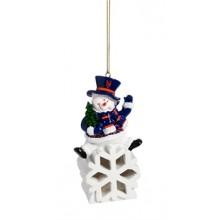 New York Mets LED Snowflake Ornament