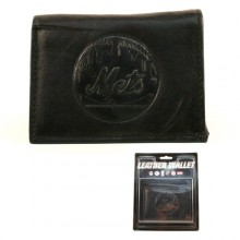 New York Mets Tri-Fold Leather Wallet