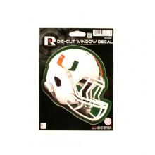 """Miami Hurricanes 6"""" Helmet Die-Cut Window Decal"""
