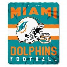 """Miami Dolphins Established 50"""" x 60"""" Fleece Throw"""