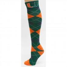 Miami Hurricanes Argyle Dress Socks