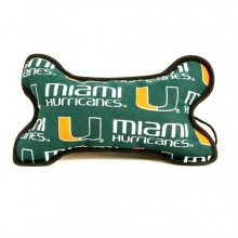Miami Hurricanes Squeeky Dog Bone Toy