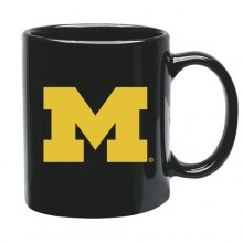 Michigan Wolverines 15 oz Black Ceramic Coffee Cup