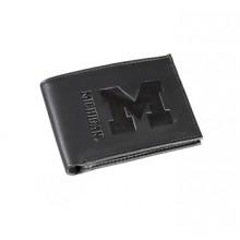 Michigan Wolverines Black Leather Bi-Fold Wallet
