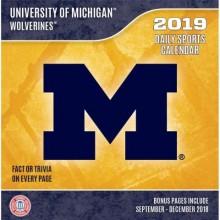 Michigan Wolverines 2019 Boxed Desk Calendar