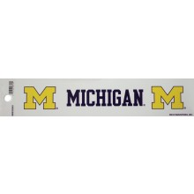 "Michigan Wolverines 2"" X 10"" Bumper Sticker"