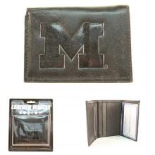 Michigan Wolverines Black Leather Wallet