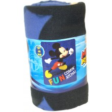 "Mickey Mouse ""Comin Atcha""  Light Weight Fleece Throw 50"" x 60"""