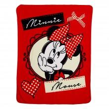 Minnie Mouse Burgandy Bows Super Plush Fleece Throw