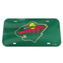 NHL Minnesota Wild Crystal Mirror License Plate