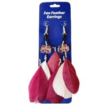 Mississippi State Bulldogs Fan Feather Earrings