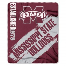Mississippi State Bulldogs Established  Fleece Throw Blanket