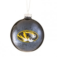 Missouri Mizzou Tigers Mercury Glass Ball Ornament