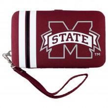 Mississippi State Bulldogs Distressed Wallet Wristlet
