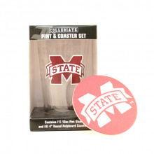 Mississippi State Bulldogs Pint and Coaster Set