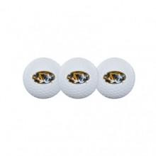 University of Missouri Mizzou Tigers 3 Pack Golf Balls