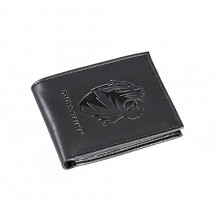 Mizzou Tigers Black Leather Bi-Fold Wallet