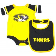Missouri Mizzou Tigers  Colosseum Infant  Bib and Bodysuit Set