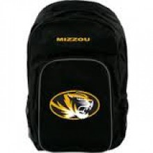 NCAA Missouir Mizzou Tigers Black Southpaw  Backpack