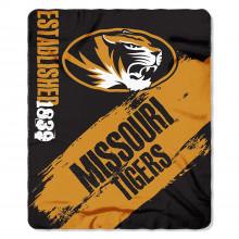 Missouri Mizzou Tigers Established  Fleece Throw Blanket