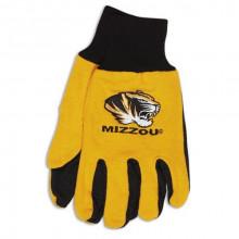 Missouri Mizzou Tigers Gold Tiger Logo Utility Gloves