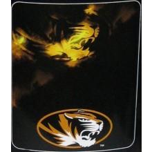 Missouri Mizzou Tigers Ghost Fleece Throw Blanket