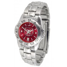 NCAA Missouri State Bears Ladies  Anochrome Sports Watch with Stainless Steel Band
