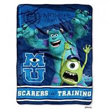 "Disney Pixar Monsters ""Scarers In Training"" Micro Raschel Throw"