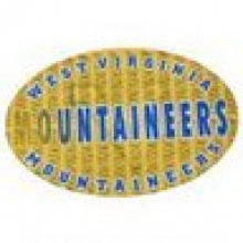 "West Virginia Mountaineers 3-D 9"" X 6"" Oval Ultradepth Hologram Magnet"