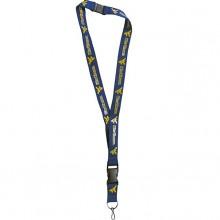 NCAA West Virginia Mountaineers Team Color Breakaway Lanyard Key Chain
