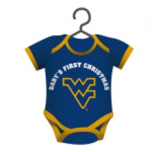 "West Virginia Mountaineers  4"" x 3"" Bodysuit Baby Shirt Ornament"