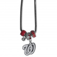 Washington Nationals Euro Bead Charm Necklace