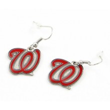 Washington Nationals Red Logo Dangle Earrings