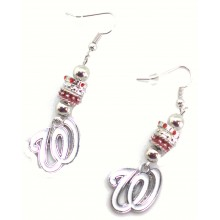 Washington Nationals Euro Bead Earrings