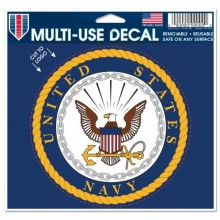 """United States Navy Multi-Use Decal 5"""" X 6"""" Cut To Logo"""