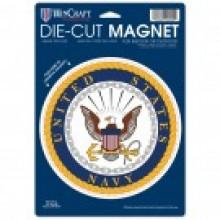 "United States Navy 6.5"" X 9"" Die-Cut  Magnet"