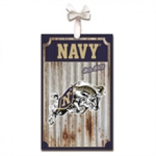 Navy Midshipman Corrugated Metal Ornament