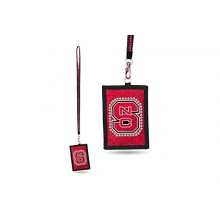 North Carolina State Wolfpack Beaded Lanyard I.D. Wallet