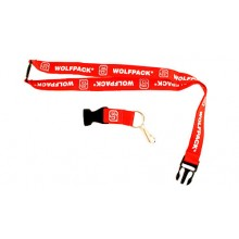 NCAA NC State Wolfpack Double Sided Team Color Breakaway Lanyard Key Chain