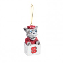 North Carolina State Wolfpack Tiki Mascot Ornament