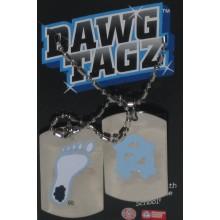 NCAA North Carolina Tar Heels Stainless Steel Dawg Tagz