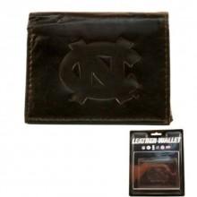 North Carolina Tar Heels Brown Leather Wallet