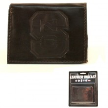 North Carolina State Wolfpack Brown Leather Wallet