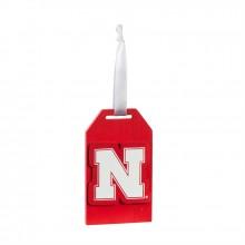 Nebraska Cornhuskers Wooden Gift Tag Ornament