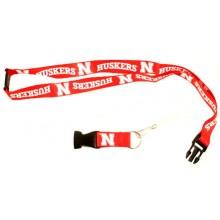 NCAA  Nebraska Cornhuskers Double Sided Team Color Breakaway Lanyard Key Chain